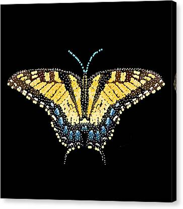 Tiger Swallowtail Butterfly Bedazzled Canvas Print by R  Allen Swezey
