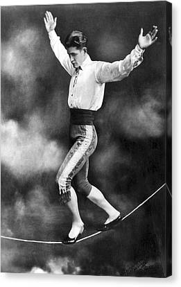 Tightrope Walker Con Colleano Canvas Print by Underwood Archives