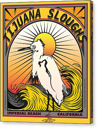 Tijuana Sloughs Imperial Beach California Canvas Print