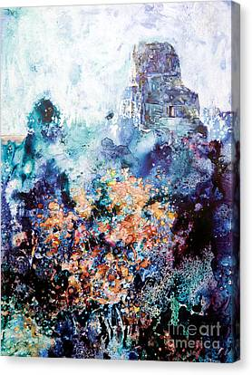 Tikal Ruins Canvas Print by Ryan Fox