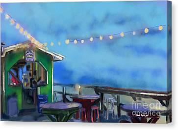 Tiki Bar Canvas Print by Carrie Joy Byrnes