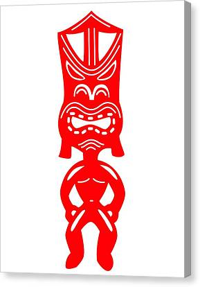 Tiki Canvas Print - Tiki by Fred Croydon
