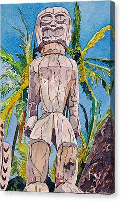 Tiki Canvas Print by Terry Holliday