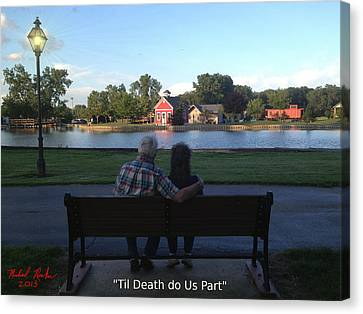 Til Death Do Us Part Canvas Print by Michael Rucker