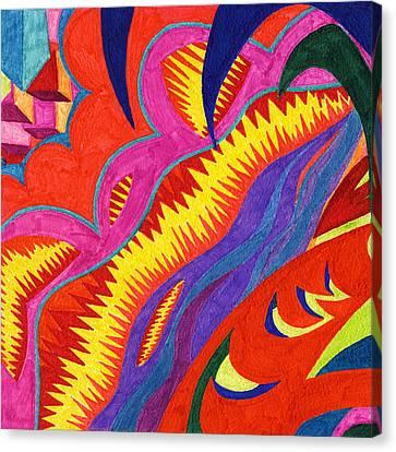 Tile 53 - Eruption At Mauna Loa Canvas Print