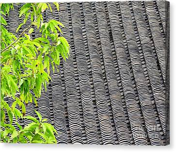 Tiled Roof Canvas Print by Ethna Gillespie