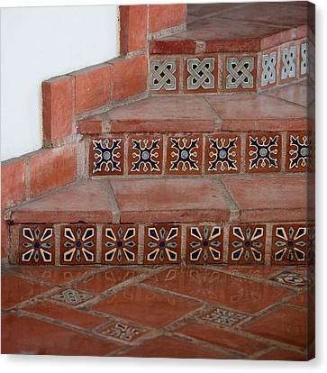 Tiled Stairway Canvas Print by Art Block Collections