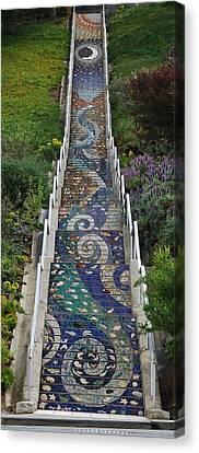 Tiled Steps Canvas Print