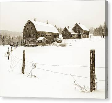 Till Dawn Farm Canvas Print