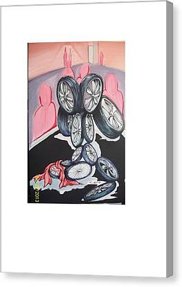 Till The Wheels Fall Off Canvas Print by Richard Wright Galleries