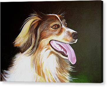 Canvas Print featuring the painting Tillie by Janice Dunbar