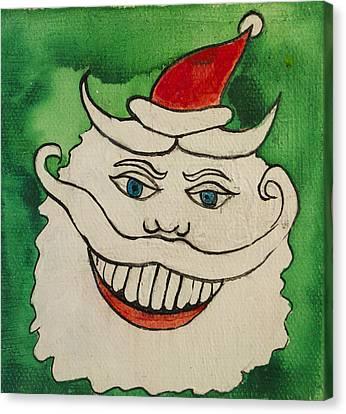 Tillie The Mischievous Santa Canvas Print by Patricia Arroyo