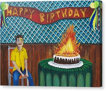 Tillies Last Birthday Party Canvas Print by Patricia Arroyo