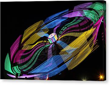 Canvas Print featuring the photograph Tilt A Whirl by Steven Bateson