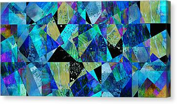 Tilt In Blue - Abstract - Art Canvas Print by Ann Powell