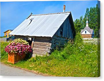 Tilted Shed In Old Town Kenai-ak Canvas Print by Ruth Hager