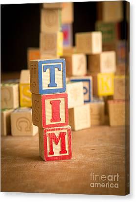 Tim - Alphabet Blocks Canvas Print by Edward Fielding