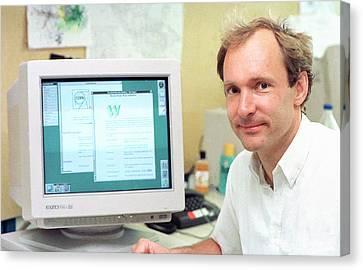 Tim Berners-lee Canvas Print