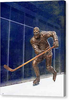 Tim Horton Bronze Statue Canvas Print