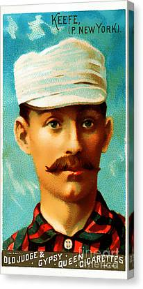 Tim Keefe New York Metropolitans Baseball Card 0128 Canvas Print by Wingsdomain Art and Photography