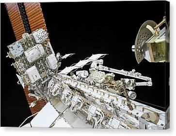 Tim Kopra's Spacewalk Canvas Print by Nasa