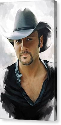 Tim Mcgraw Artwork Canvas Print by Sheraz A