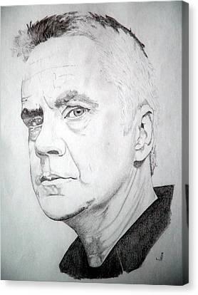 Tim Robbins Canvas Print by Robert Lance