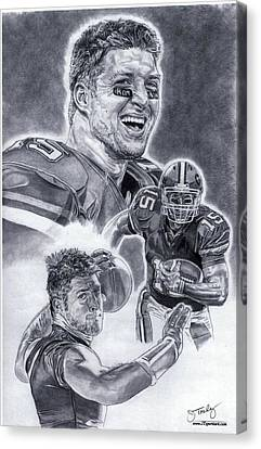 Tim Tebow Canvas Print by Jonathan Tooley