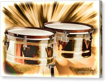 Timbale Drums For Latin Music Painting In Color 3326.02 Canvas Print