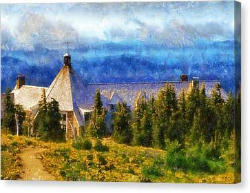Timberline Lodge Canvas Print by Kaylee Mason