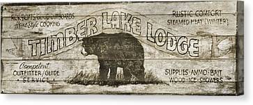 Timber Lake Lodge Canvas Print by Dan Sproul