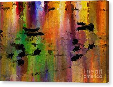 Timbral Downpour Canvas Print