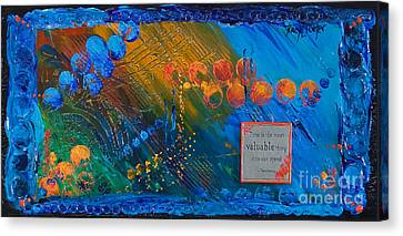 Time Abstract Canvas Print by Tracy L Teeter