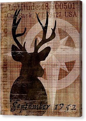 Time And Place Deer 1952 Canvas Print