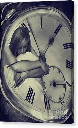 Young Lady Canvas Print - Time Constraint by Amanda Elwell