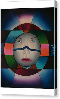 Time Face Canvas Print by Extranjerocus
