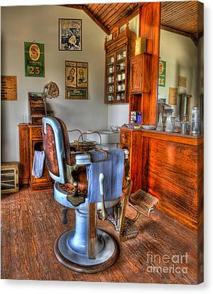 Barberchairs Canvas Print - Time For A Cut And Shave II - Barber by Lee Dos Santos