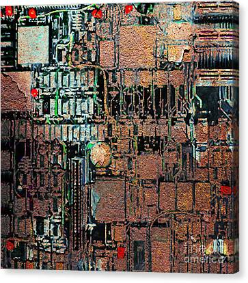 Time For A Motherboard Upgrade 20130716 Square Canvas Print by Wingsdomain Art and Photography
