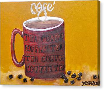 Time For Coffee Canvas Print by Melissa Torres