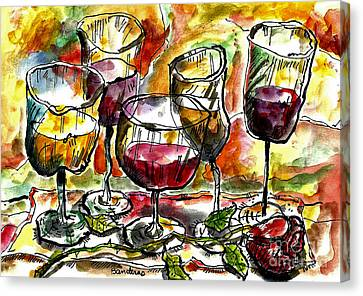Time For Wine Tasting Canvas Print