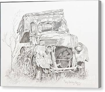 Canvas Print featuring the painting Time Forgotten by Mary Haley-Rocks
