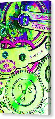 Time In Abstract 20130605m108 Long Canvas Print by Wingsdomain Art and Photography