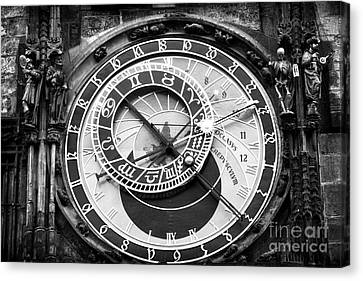 Time In Prague Canvas Print by John Rizzuto