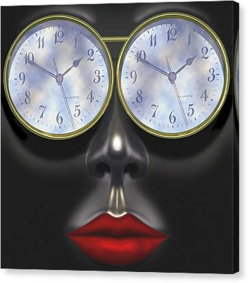 Time In Your Eyes - Sq Canvas Print by Mike McGlothlen