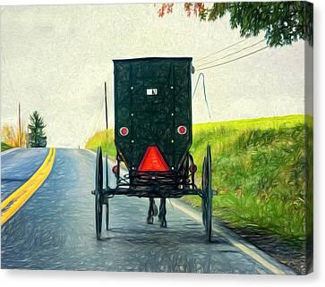 Time Machine -  Paint Canvas Print