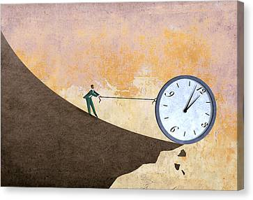 Time On The Edge Canvas Print by Steve Dininno