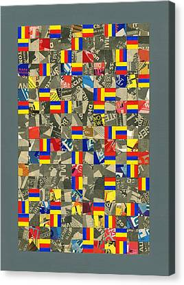 1984 Canvas Print - Time Order Chaos. 1984 by Peter-hugo Mcclure