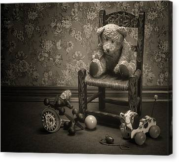 Time Out - A Teddy Bear Still Life Canvas Print