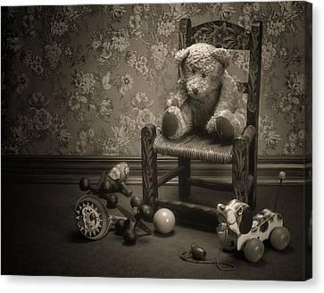 Time Out - A Teddy Bear Still Life Canvas Print by Tom Mc Nemar