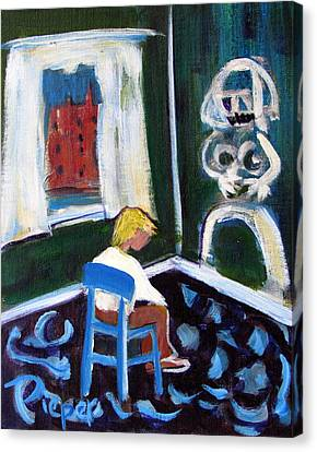 Time Out For De Kooning In A Chair In A Corner Canvas Print by Betty Pieper